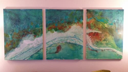 Paintings by Mark Ross, Next Thing Art seen at Private Residence, Houston - Coral Reefs