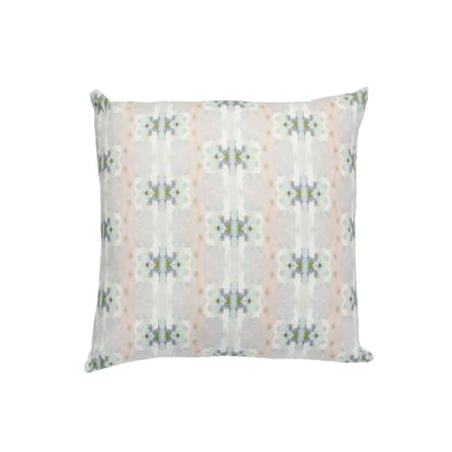 Pillows by Laura Park Designs seen at Private Residence, Wilmington - Ella Teal Pillow