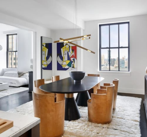 Chandeliers by Daikon Studio seen at One Hundred Barclay Condominiums, New York - Stilk Chandelier