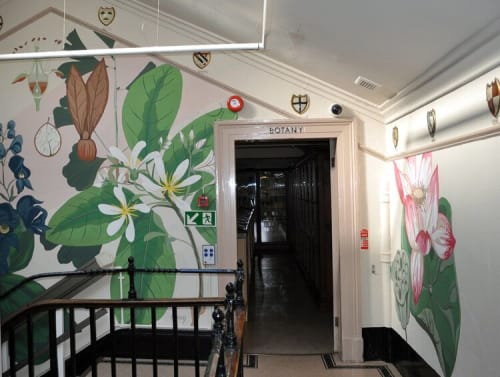 Murals by Josephine Hicks seen at Warrington Museum & Art Gallery, Warrington - Botanical Mural