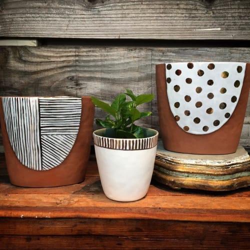 Vases & Vessels by Liz Pechacek seen at Crimson Horticultural Rarities, Oakland - Ceramic Planter