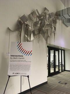 Sculptures by Beth Kamhi seen at Polsky Center For Entrepreneurship, Chicago - Gathering V3