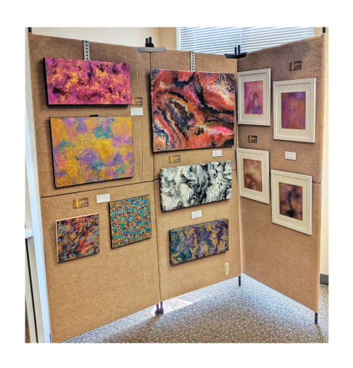 Paintings by Soulscape Art seen at American National Bank of Texas, Forney - Art on View