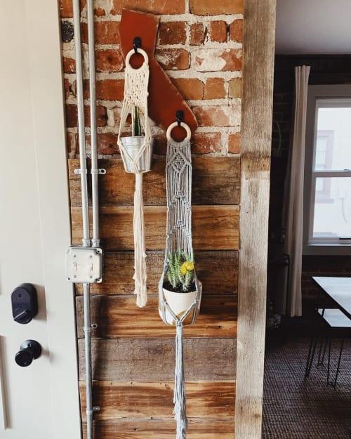 Macrame Wall Hanging by Likewoah Handmade (Sam seen at Private Residence, Denver - Macrame Plant Hanger