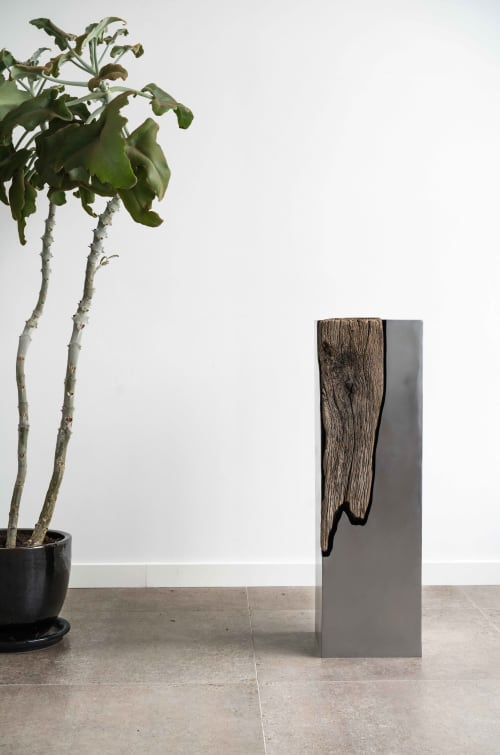 Sculptures by Ask Emil Skovgaard seen at Private Residence in Copenhagen, Denmark, Copenhagen - Wood and Metal 1