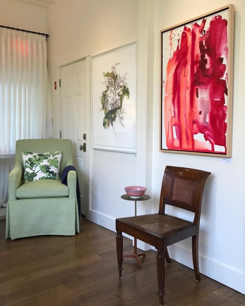 Paintings by Kelly Milukas / Imagination Collaboration seen at Private Residence, Jamestown - Red Splash