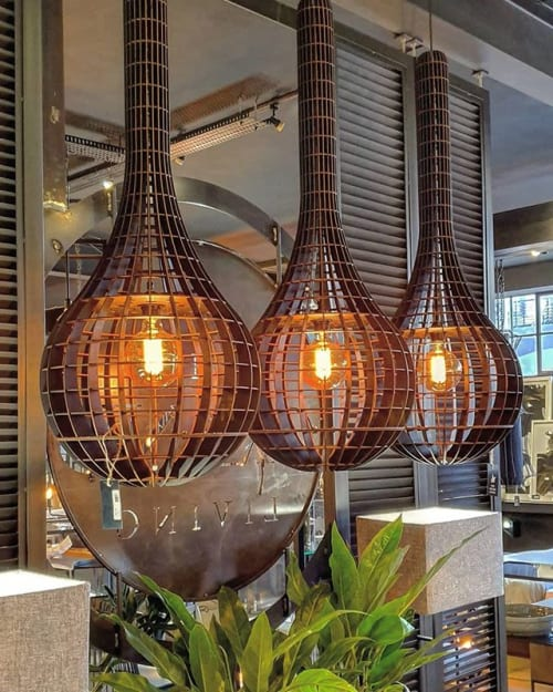Pendants by Tartaruga Designs seen at Private Residence, Dolphin Coast - Gianni Lambertelli