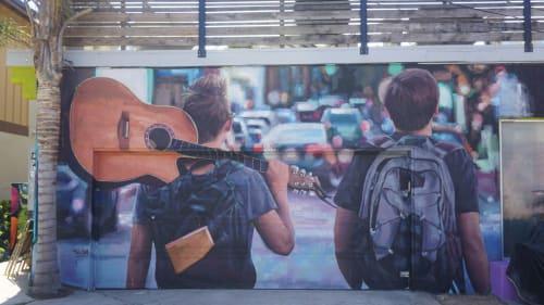 Street Murals by SLIM SAFONT seen at California - ADVENTURE