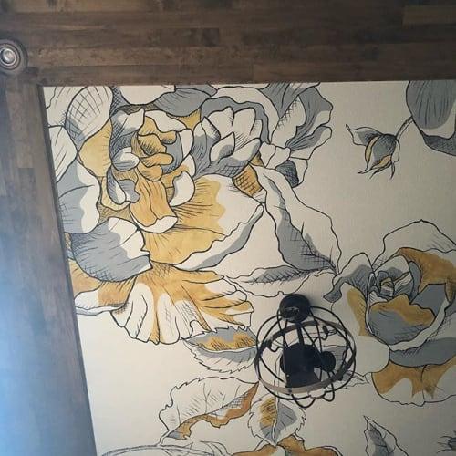 Murals by J  B E A N  ART seen at JBEANART, Severance - FLORAL CEILING