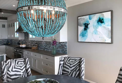 Paintings by TS ModernArt Studio seen at Private Residence, Manhattan Beach - Ice and Stone