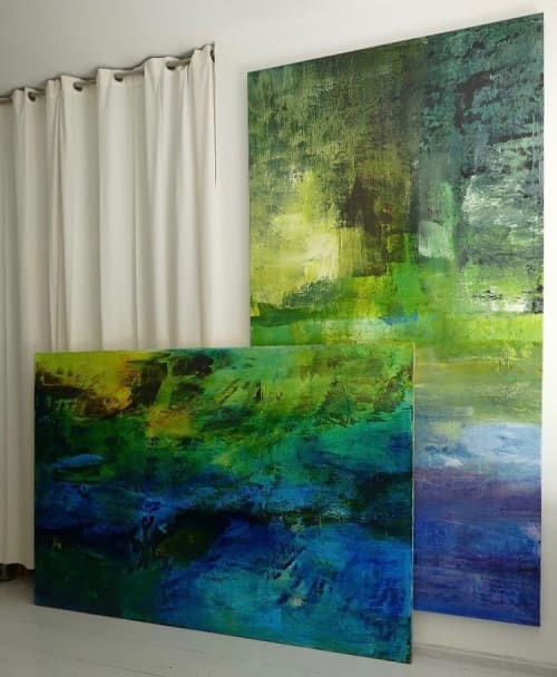 Paintings by Erzsebet Nagy Saar seen at Creator's Studio, Vienna - Studio