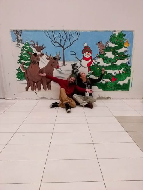 Murals by Shane Wilcox seen at White Oaks Mall, London - Holiday  Mural