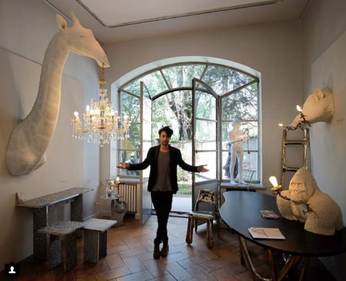 Chandeliers by MARCANTONIO at Rossana Orlandi, Milano - She's in love but She doesn't know it yet (Giraffe with Chandelier)