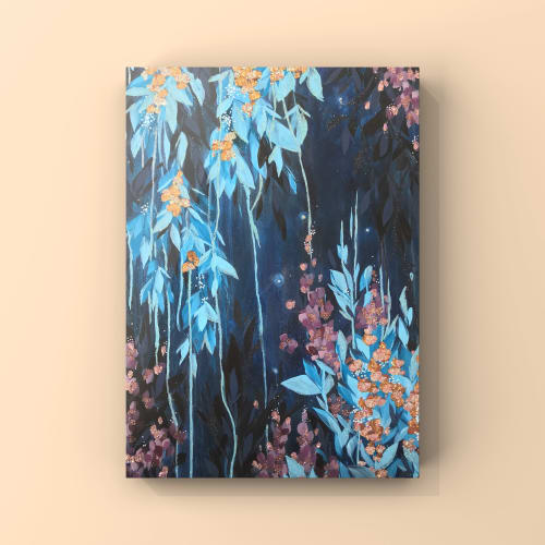 Paintings by Ashley Rose seen at Humboldt County - Midnight Fireflies I, II