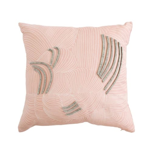 Pillows by Jill Malek Wallpaper - Cocoon Pillow | Dusty Rose
