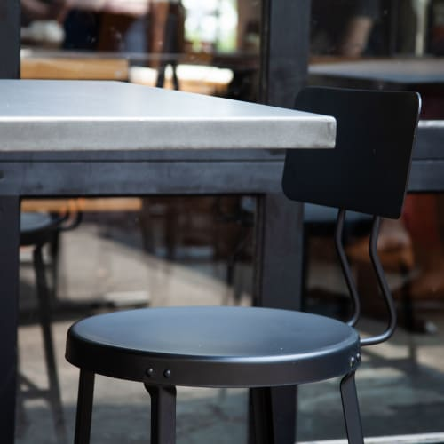 Chairs by Crow Works seen at Fox in the Snow Cafe, Columbus - One Ton Stool with Back