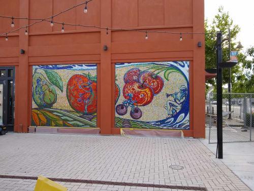 Street Murals by Margarita Soyfertis seen at Castro Valley Marketplace, Castro Valley - Urban Gardens