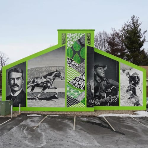 Street Murals by Ben Keller Art seen at Private Residence, West Hartford - Elmwood, Through the Ages.