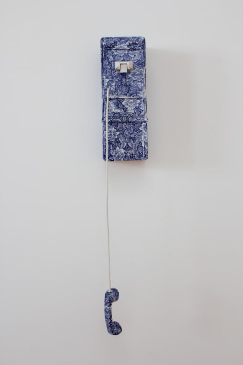 Sculptures by House of DeBoer seen at Private Residence, Kansas City - Embellished Porcelain Pay Phone