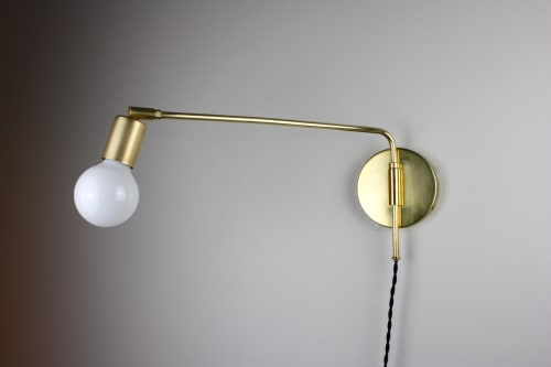 Lamps by Rough Luck Studio seen at Echo Park Studio, Los Angeles - Arthur Brass Wall Light