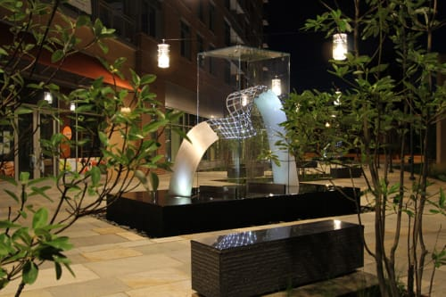 Public Sculptures by Jason Krugman at 4800 Auburn Ave, Bethesda - Rhythm and Form