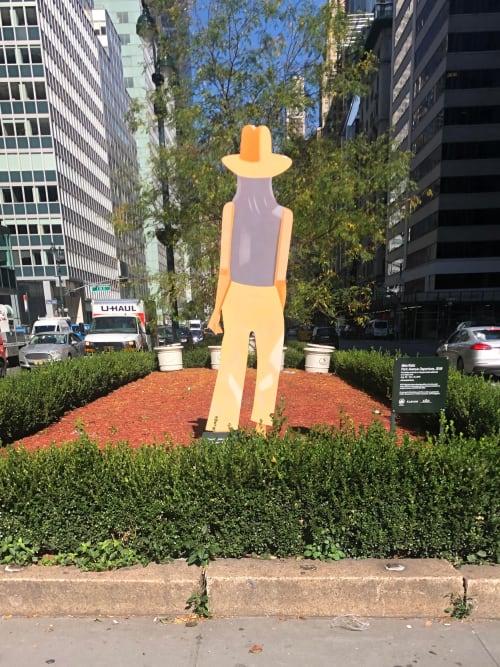 Public Sculptures by Alex Katz seen at Park Avenue & East 52nd Street, New York - Park Avenue Departure, 2019