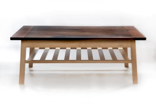 Tables by Ogelby Woodworks seen at Private Residence, Williston - Slighted Coffee Table