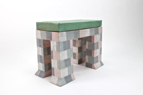 Benches & Ottomans by Kelsie Rudolph seen at Bozeman, MT, Bozeman - Perch in Pink