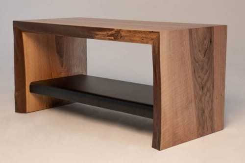 Benches & Ottomans by Wicked Mata seen at Private Residence - United Kingdom - Waterfall Walnut Bench