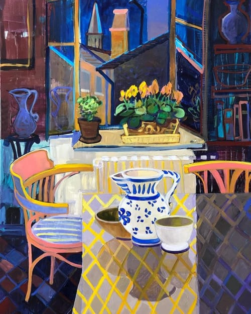 Paintings by Christine Webb seen at Private Residence, Sydney - Summer Night Sansepolcro