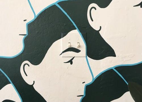 Murals by Alyssa Block seen at Alyssa Block Studio, San Francisco - Mural at Alyssa Block Studio