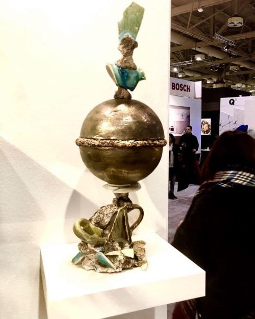 Sculptures by Catharina Goldnau Ceramics seen at Metro Toronto Convention Centre (MTCC), Toronto - De l'or