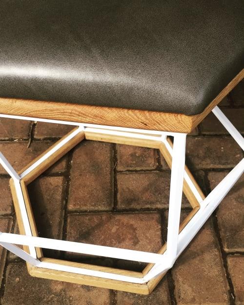 Furniture by TheUrbanative seen at Nandos Hair Salon, Brooklyn - Steel Frame Screens & Barstools