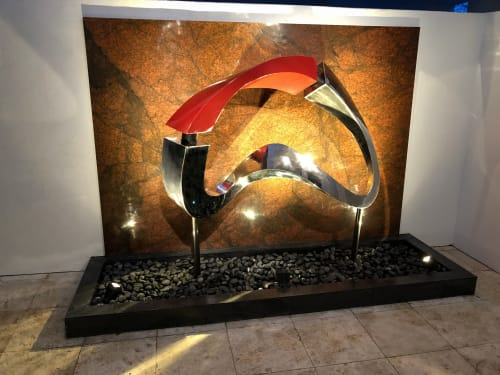 Bridge of LIfe | Public Sculptures by Innovative Sculpture Design | Royal Fern Ct Residence in Houston