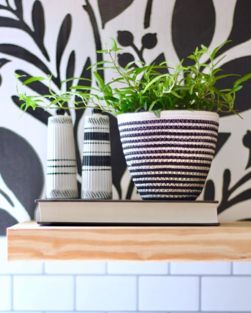 Vases & Vessels by MOkun seen at Private Residence, Charlotte - Striped Planter