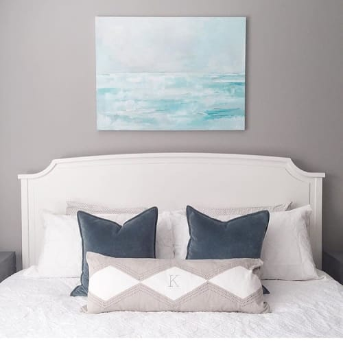 Paintings by Art by Megan seen at Private Residence, New York - Sky Blue