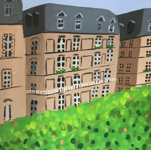 Murals by Flo de Bretagne seen at Private Residence, Palo Alto - Paris en Fete