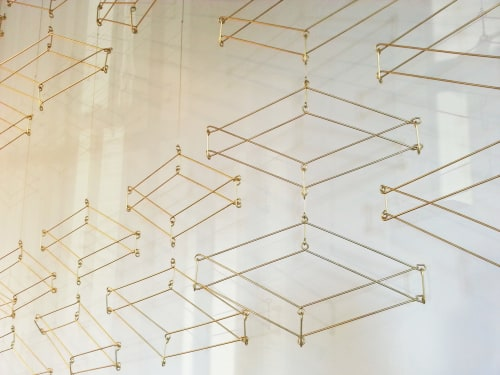 Art & Wall Decor by Beth Naumann at Stripe, San Francisco - Brass Art Installation