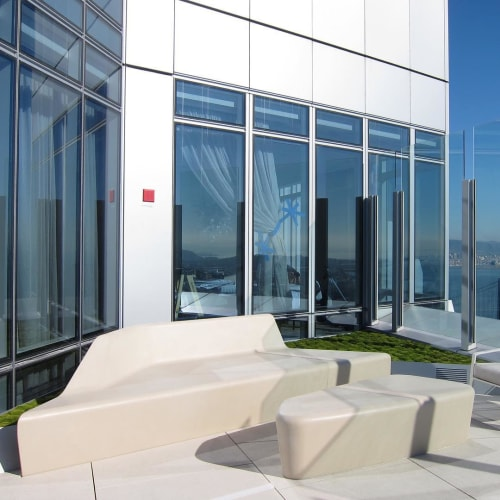 Beds & Accessories by Concreteworks seen at Millennium Tower San Francisco, San Francisco - Custom Daybed