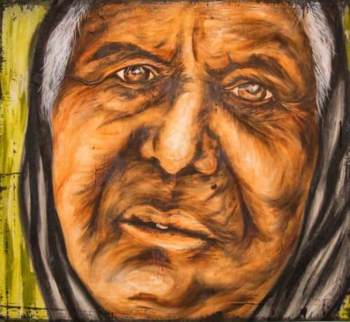 Street Murals by Hugo Medina seen at Phoenix, AZ, United States, Phoenix - Athenian Port Begger