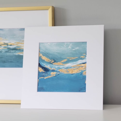 North Sea - Embellished Print   Paintings by Julia Contacessi Fine Art