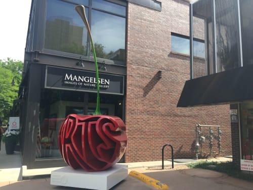 Public Sculptures by Garrett Brown Designs seen at Cherry Creek Shopping Center, Denver - Cherry Creek Arts Festival Cherry