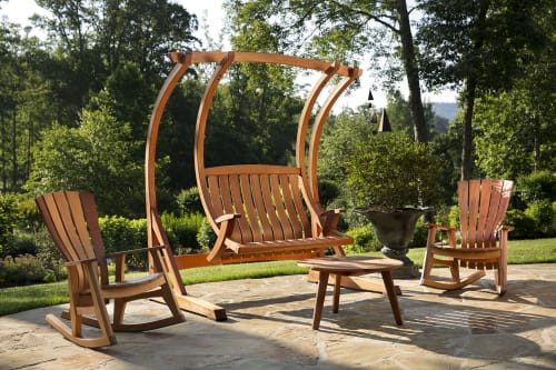 Furniture by Brian Boggs Chairmakers seen at Private Residence, Walnut Cove - Sunniva Outdoor swing and rockers
