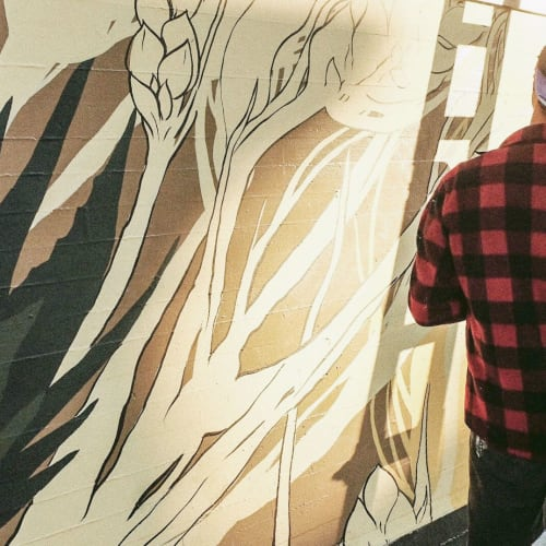 Street Murals by Irubiel Moreno seen at Healthy Spirits, San Francisco - 'Healthy Spirits'