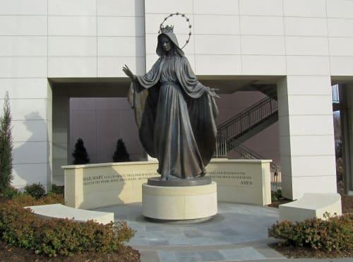 Public Sculptures by David Alan Clark Sculpture seen at St. Francis Hospital, Tulsa - Mary, Queen of Heaven