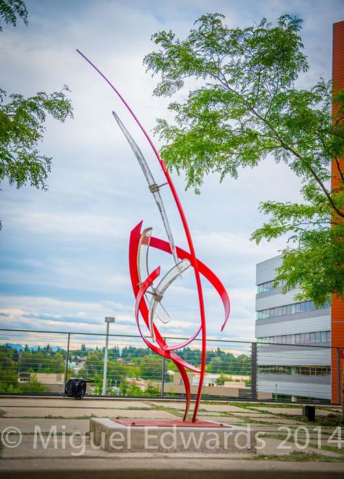 Public Sculptures by Miguel Edwards seen at Bellevue City Hall, Bellevue - Ascent sculpture