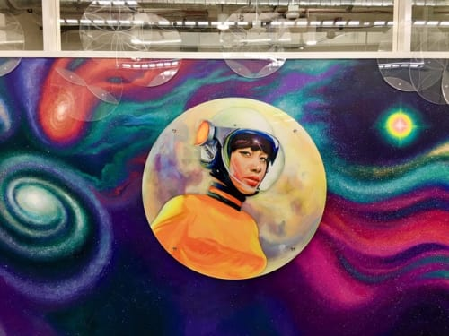 Murals by Beth Consetta Rubel seen at Facebook, Austin - Empowering Women in STEM