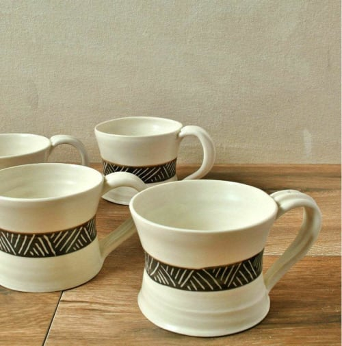 Porcelain Espresso Cup Set of 4 | Cups by ShellyClayspot