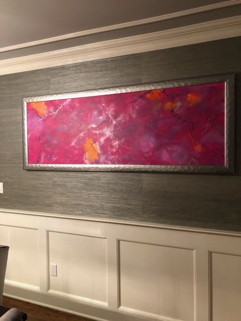 Paintings by Lisa Collins seen at Private Residence, Chatham - Color Burst