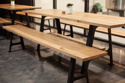 Benches & Ottomans by Crow Works seen at High Bank Distillery Co, Columbus - M1 Machine Bench
